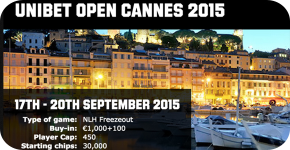2015 Poker tournament Unibet Open in Cannes